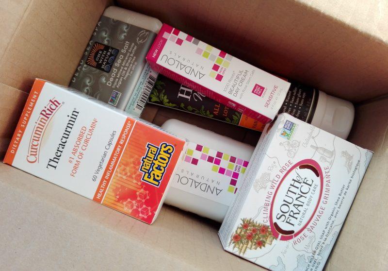 Посылка iHerb куркумин, мыло, шампунь, лосьон