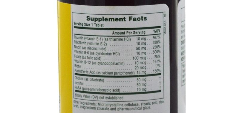 Состав комплекса витаминов группы В