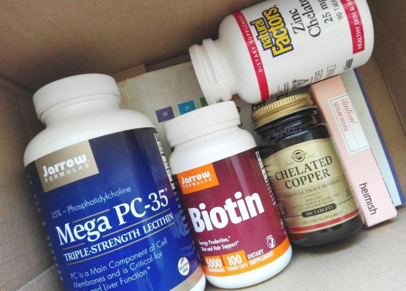 Посылка iHerb цинк хелат, фосфатидилхолин, биотин, медь хелатная